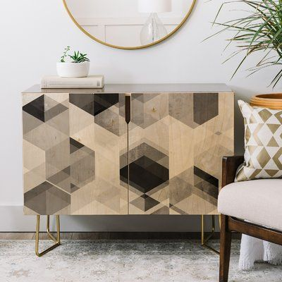 East Urban Home Graphic Credenza | Wayfair