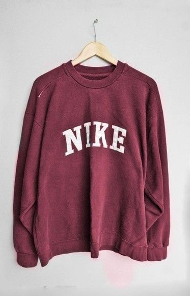 sweater  Where to get this style  - Wheretoget Vintage Nike Sweatshirt, Red  Nike 254a513013
