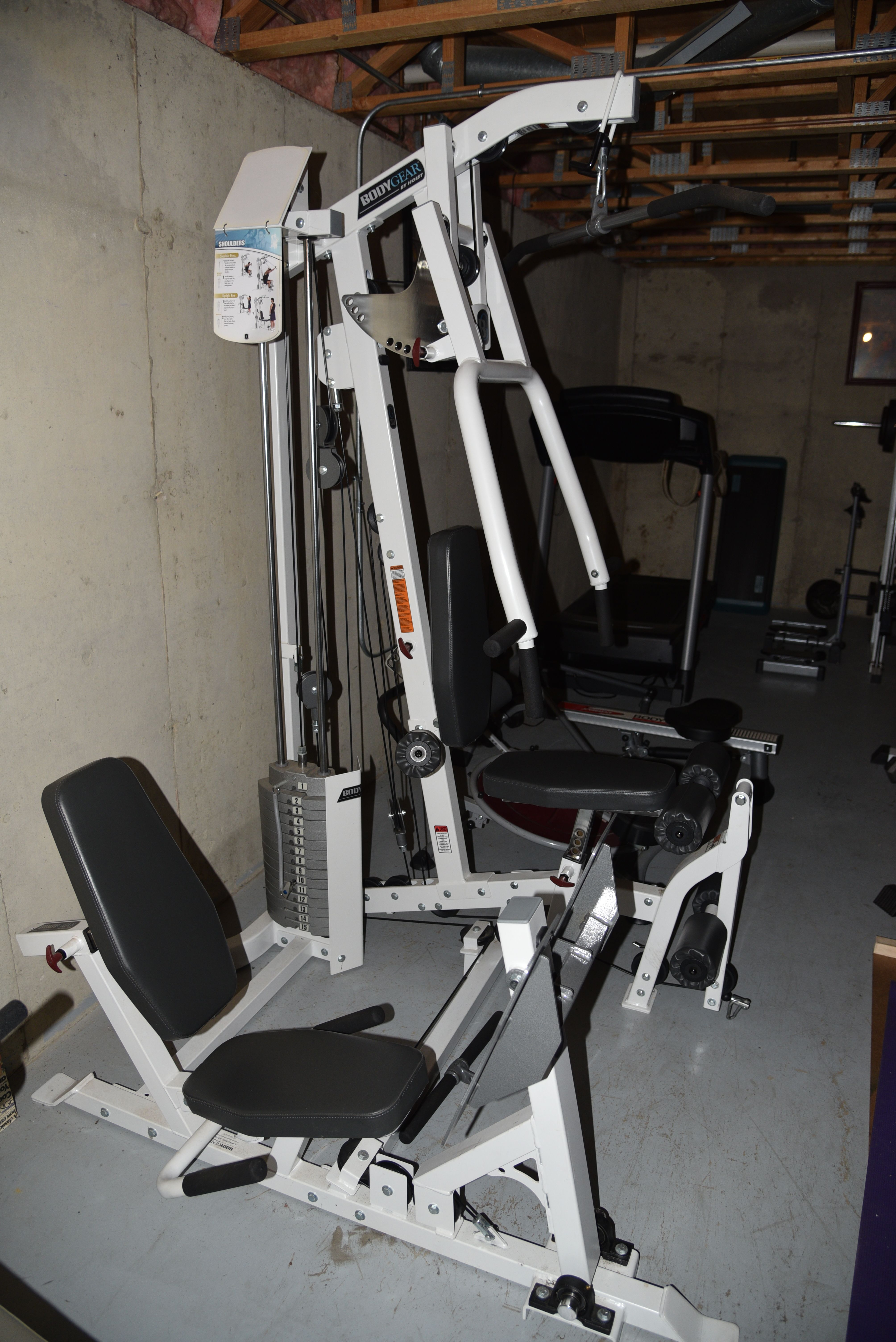 Home gym by hoist g universal system includes lbs with