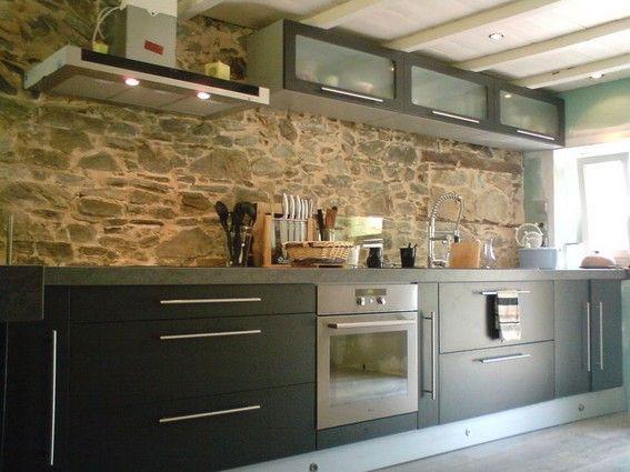 Quelle Deco Pour Une Maison Ancienne Pierres Poutres App Cuisine Rustique Cuisine Moderne Renovation Cuisine