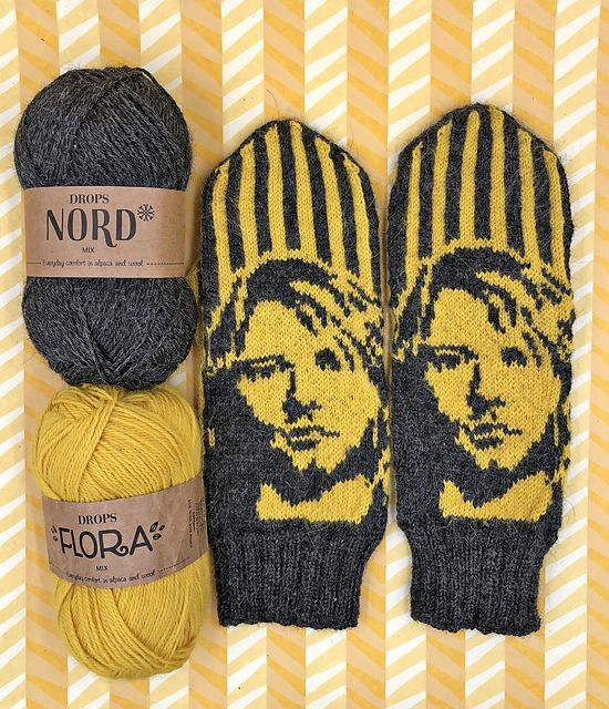 Photo of Knit a Pair of Kurt Cobain and Nirvana-Inspired Mittens, Designed By Lotta Lundin
