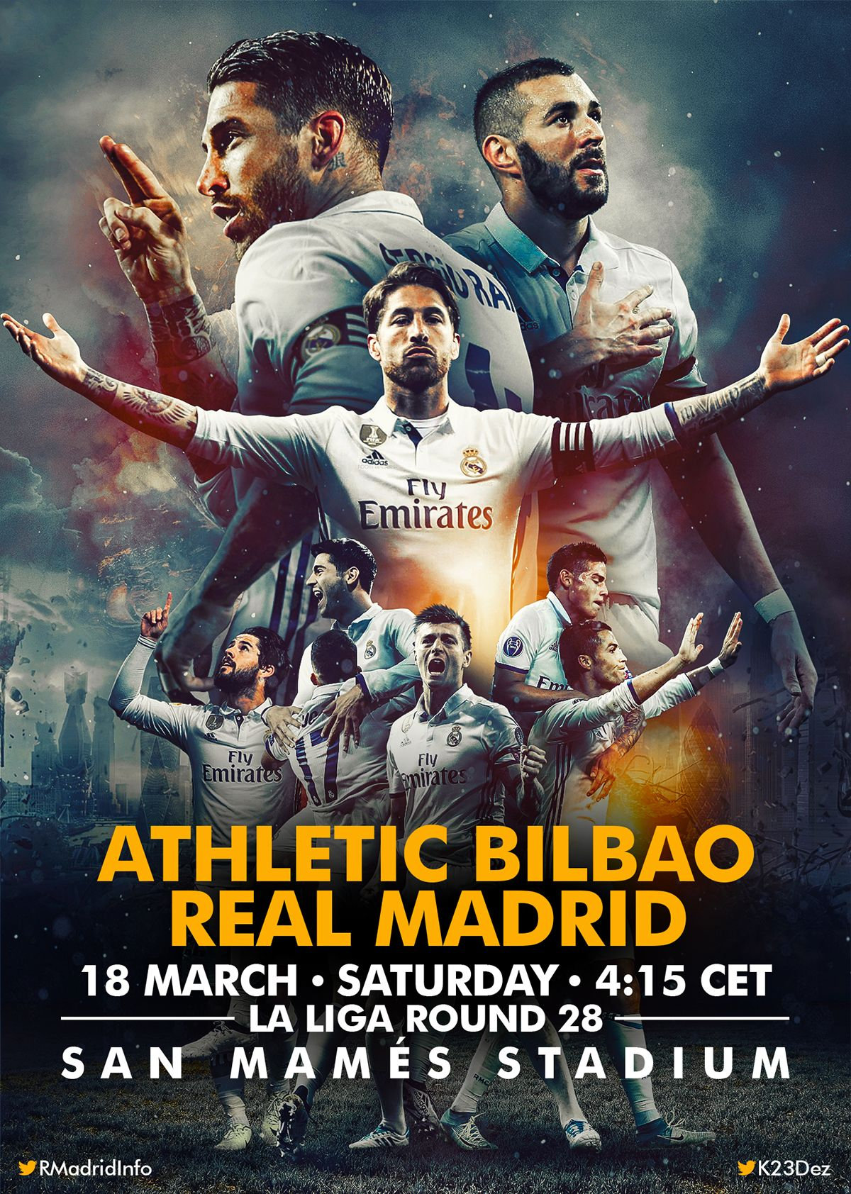 679f2bffba MATCHDAY Posters on Behance | 2016.2 | Real madrid team, Ronaldo ...