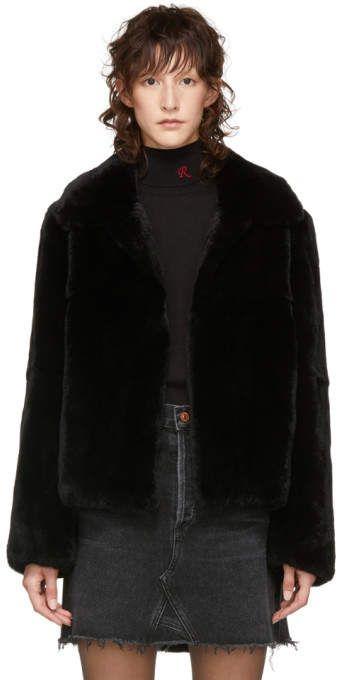 31ca08835 Yves Salomon Meteo Black Rabbit Fur Jacket | Products | Rabbit fur ...