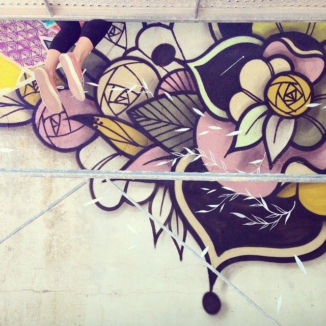 In progress ... #wallpainting #supakitch #koralie #supakitchandkoralie…