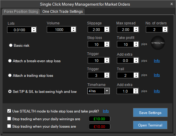 Ctrader Professional Trading Software Widgets Trading How To