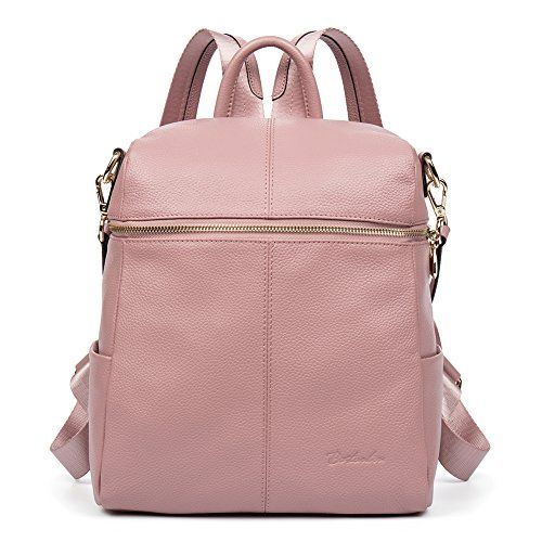 de6e06e3c BOSTANTEN Women Casual Leather Backpack Purse Satchel Shoulder School Bags  for College Pink $140.00