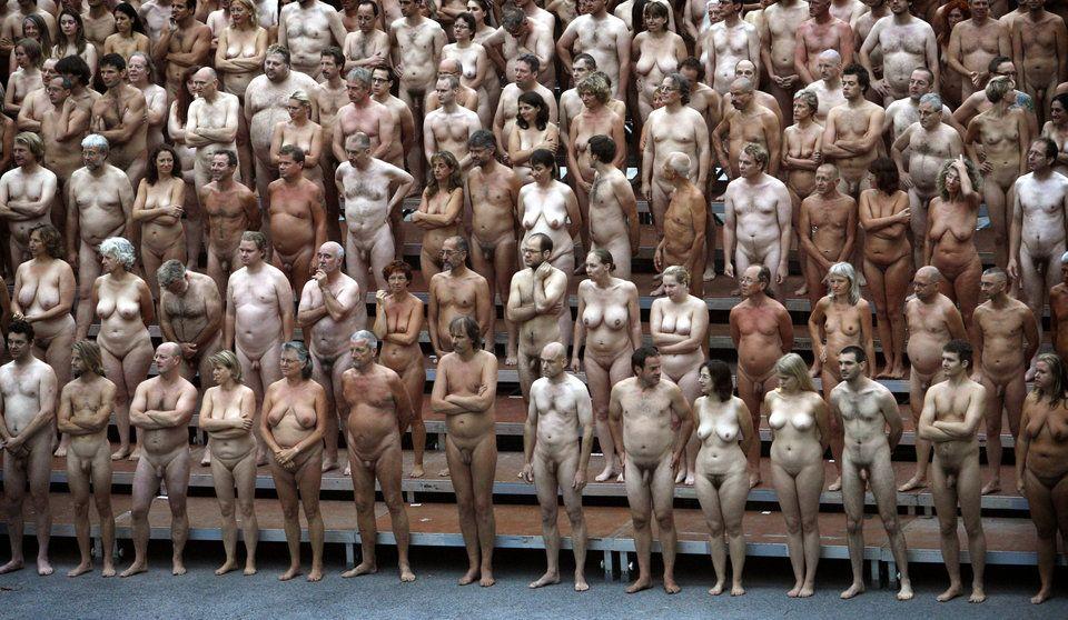 Nude female circus acrobat 8