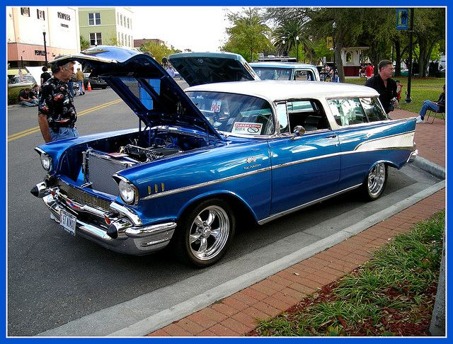 Gorgeous Mint Condition 57 Chevy Bel Air Nomad Classic Cars