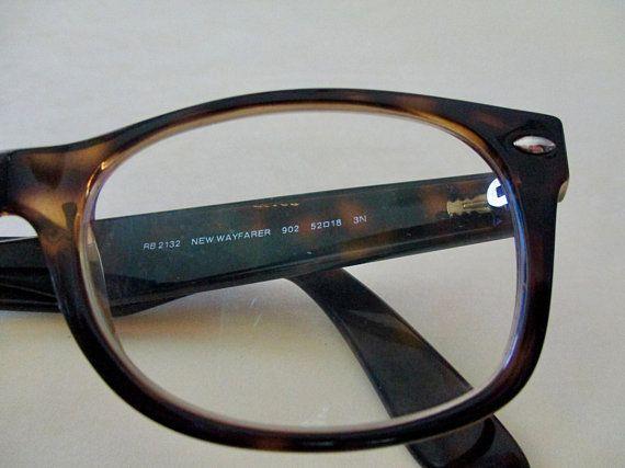 6c615fad17 vintage Ray Ban New Wayfarer tortoise shell eyeglass frames- designer