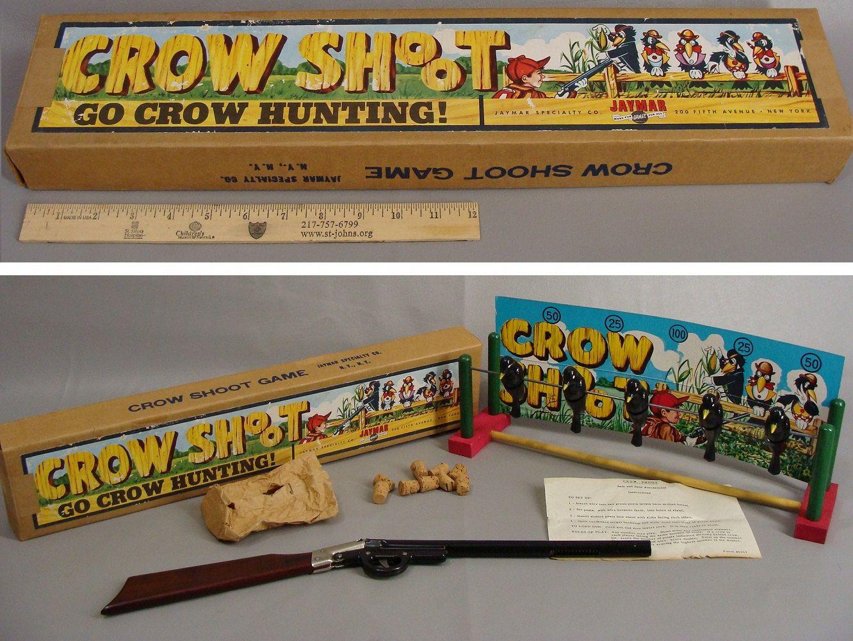Crow Shoot Game. vintage 50s TOY. Nostalgic Christmas Gift. Pop ...