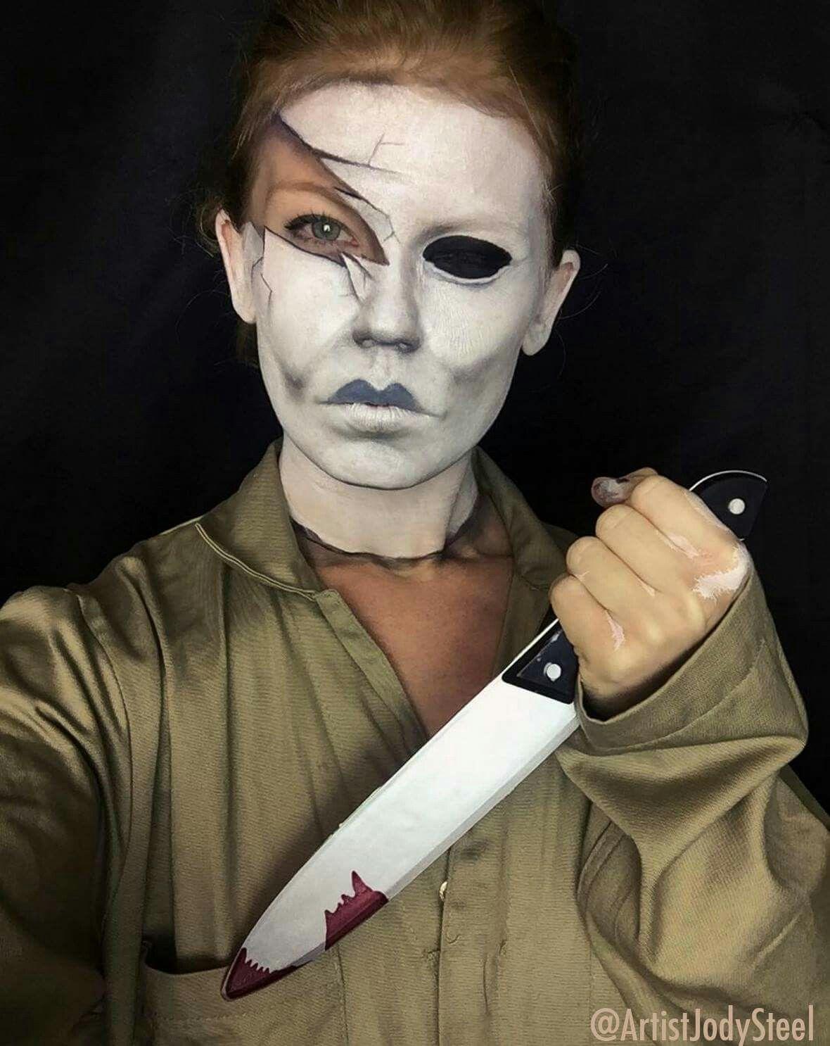 Michael myers makeup Halloween makeup, Special fx makeup