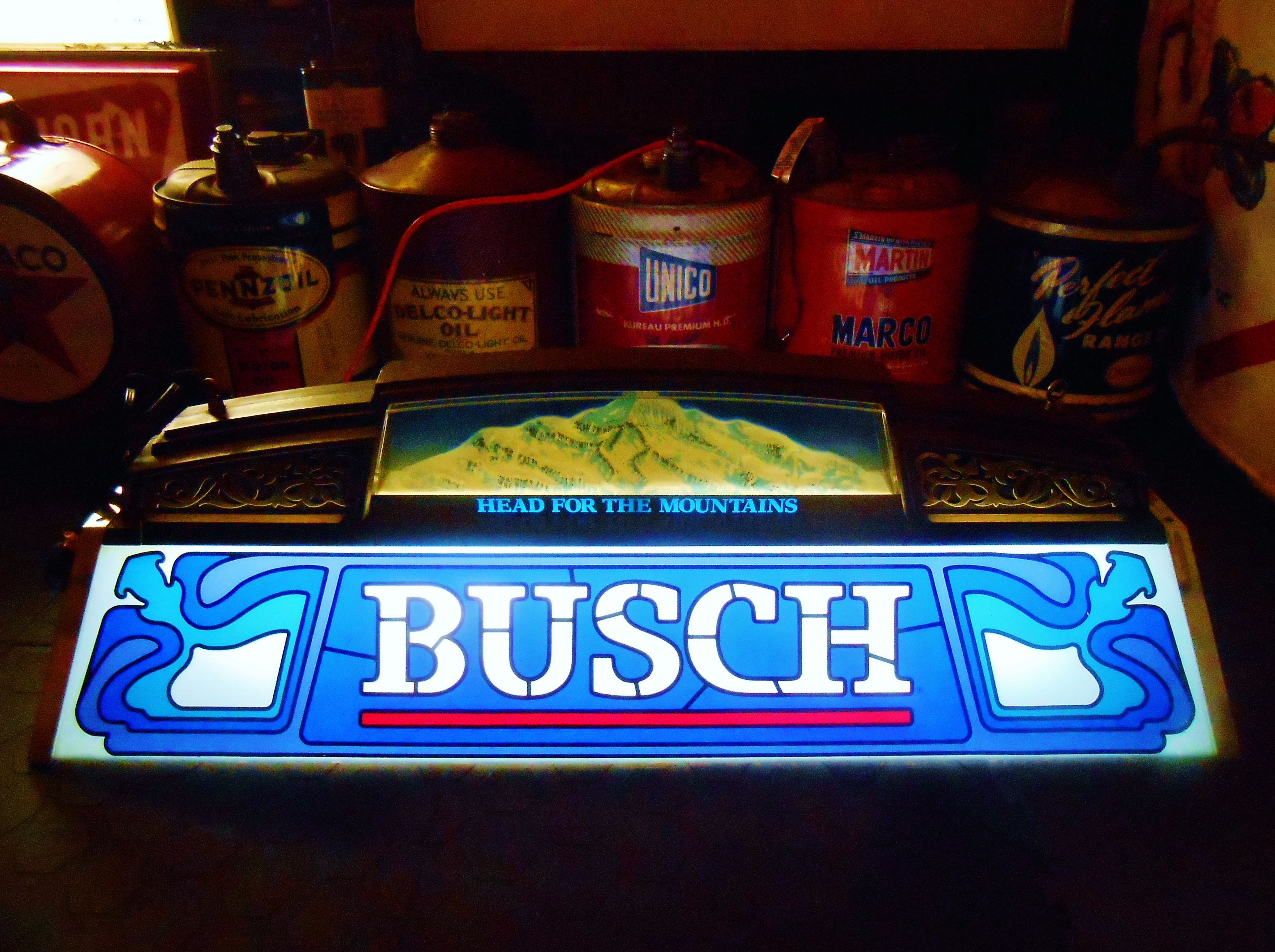 Rare Vintage BUSCH BEER Pool Table Light, Circa 1980u0027s