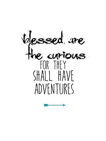 Art Print: Blessed Are the Curious by Jan Weiss : 24x18in