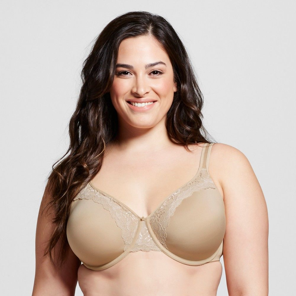 6b27da1968 Bali Women s One Smooth U Ultra Light Lift with Lace Underwire Bra 3L97 -  Light Beige