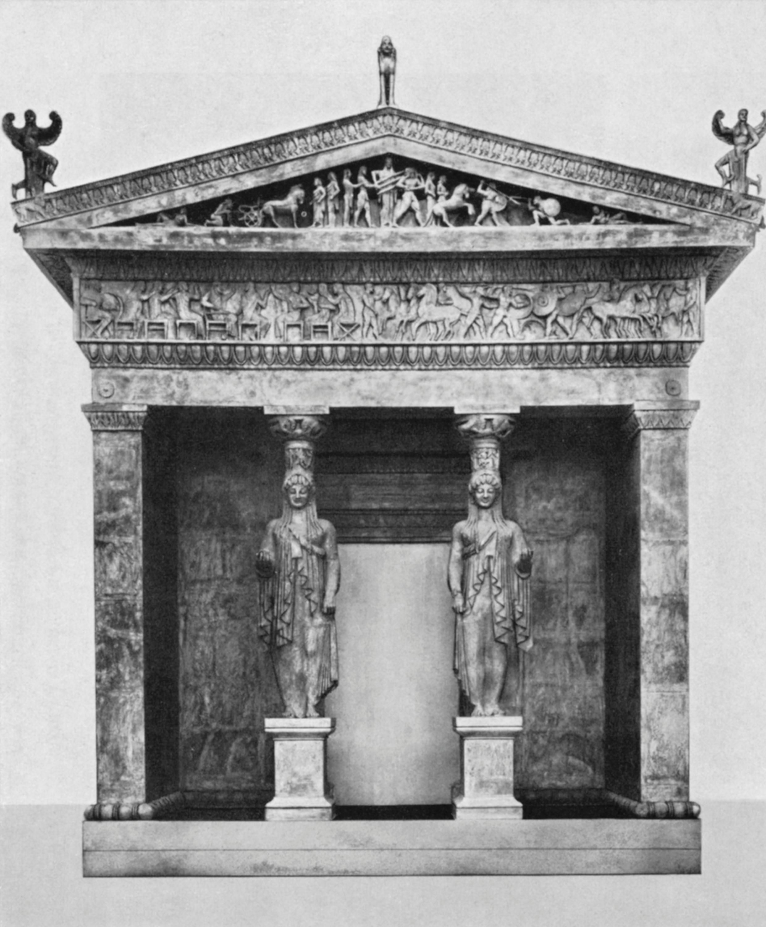 Siphnian treasury at delphi facade c b greek