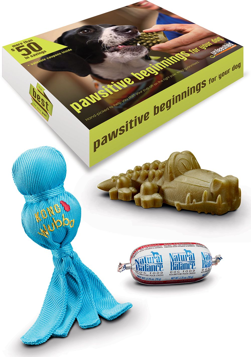 The Pawsome Beginnings Dog Box Includes Some Of Our Favorite Toys