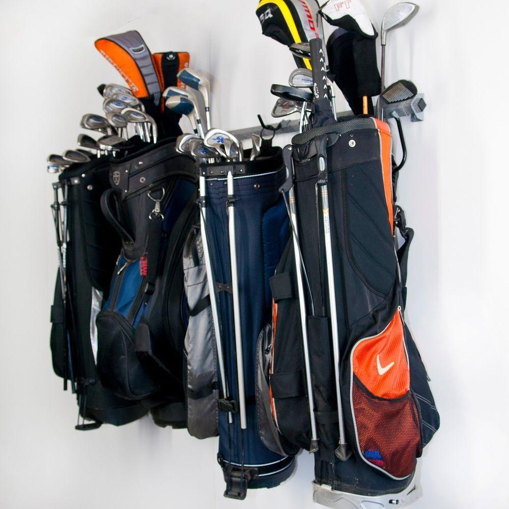 Monkey Bar Storage Hanger Garage Wall Organizer Six Golf Bag Clubs Rack Monkeybarstorage