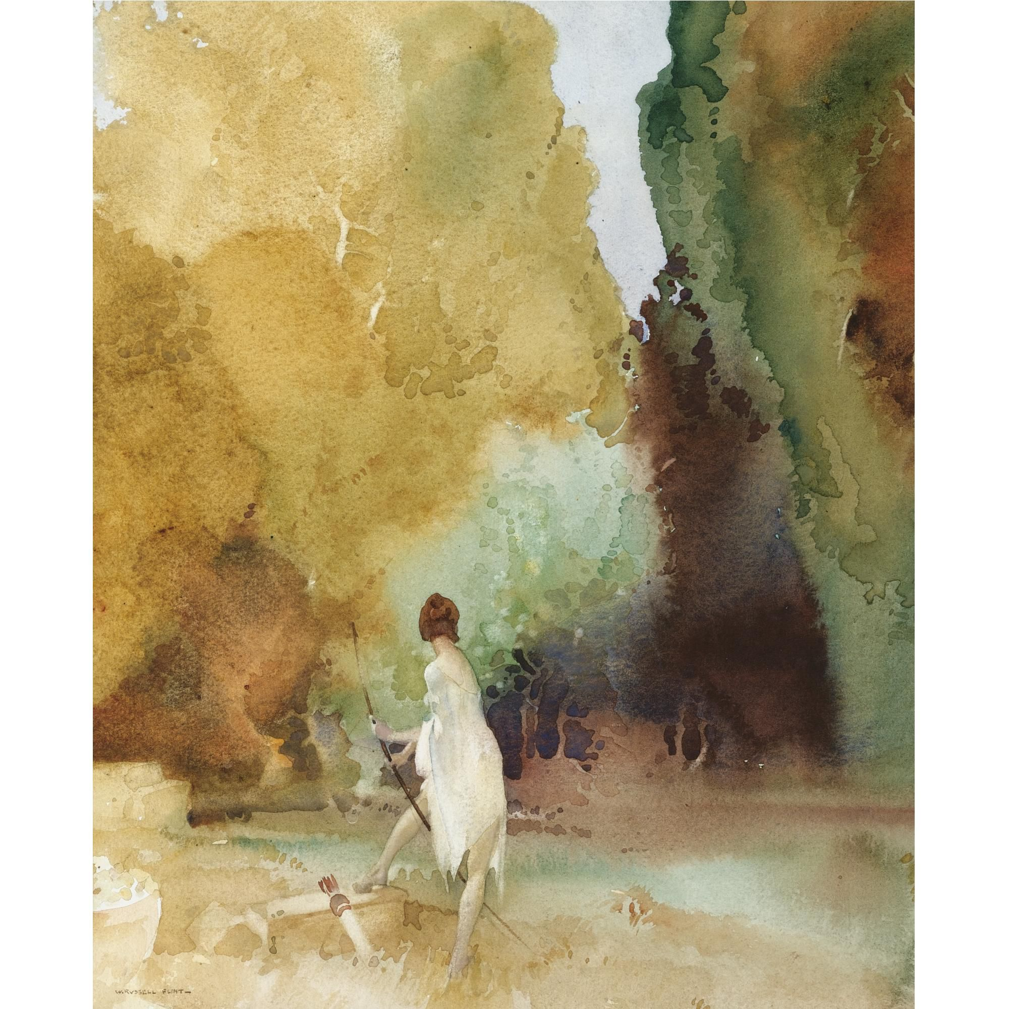 Sir William Russell Flint The Timid Huntress William Russell