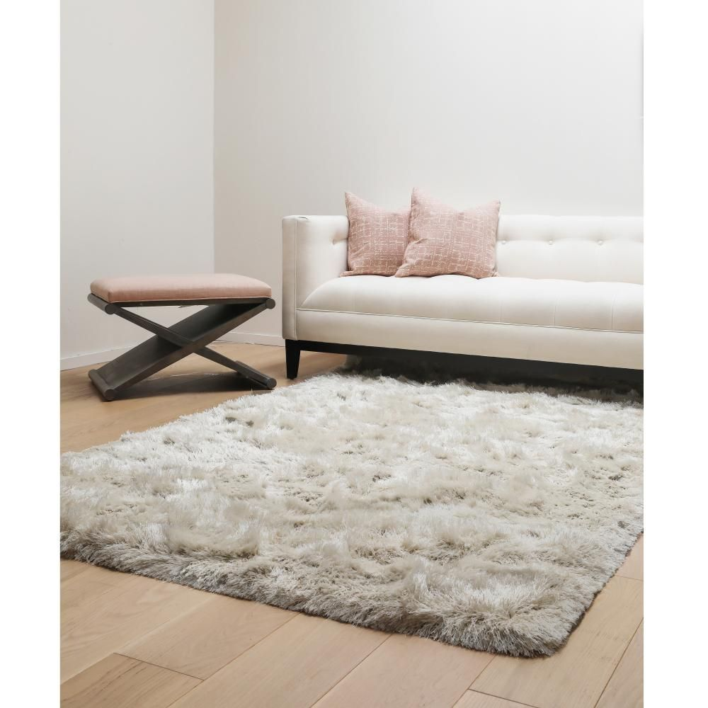 The Curated Nomad Alhambre White Tribal Shag Area Rug 8 X 10