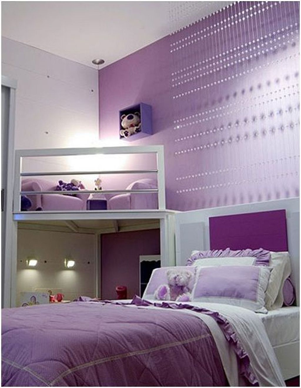 purple teenage girl bedroom ideas