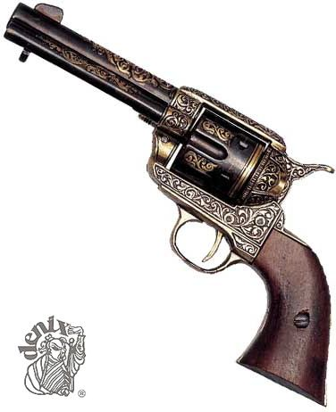 da1715763 old western handguns | Old-West-Guns.com - Colt Peacemaker Brass Finish  Replica by Denix .