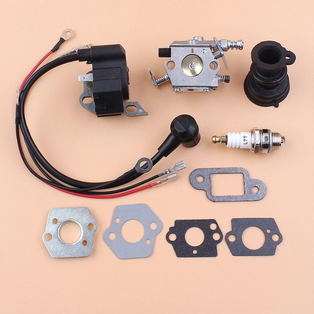 Carburetor Ignition Coil Module Gasket Spark Plug For Stihl Ms250