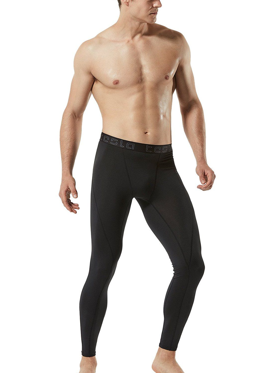 8a5915b717fa4 Tesla Men's Compression Pants Baselayer Cool Dry Sports Tights Leggings  MUP19 / MUP09 / P16 *** Click image to review more details.