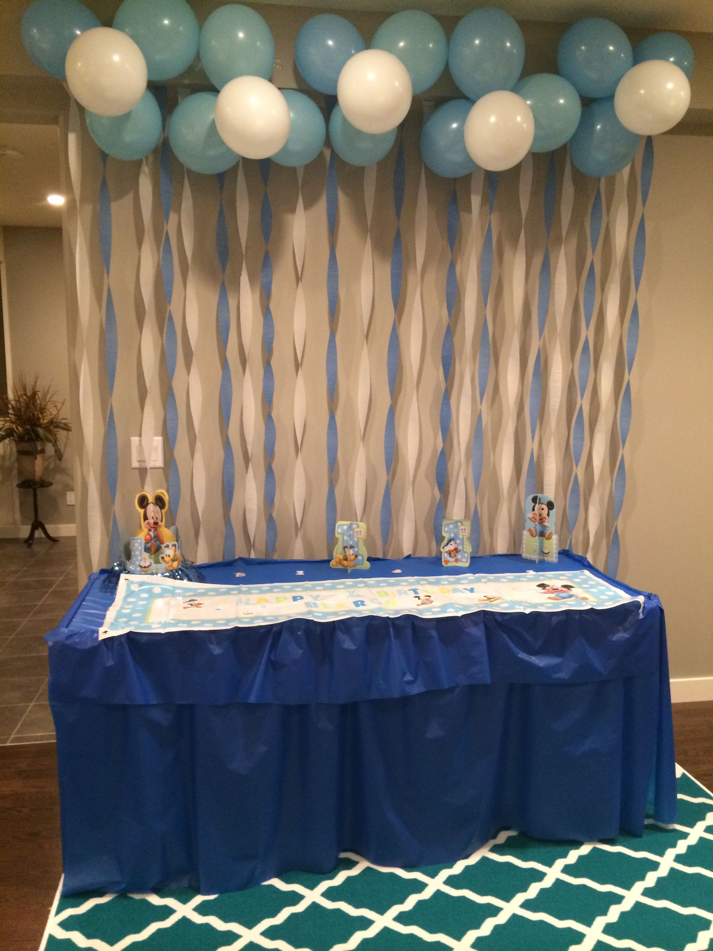 birthday waterfall decor bautizo baby shower decorations baby shower y birthday party. Black Bedroom Furniture Sets. Home Design Ideas