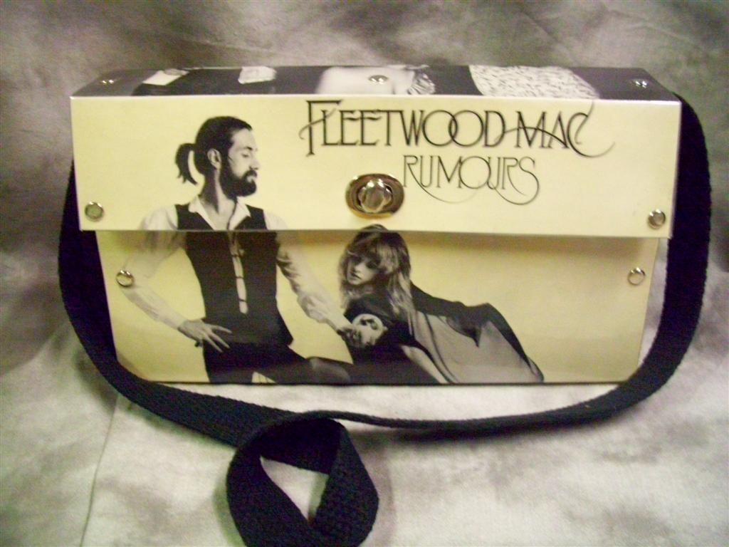 Fleetwood Mac Rumors Purse Vinyl Record Crafts Purses