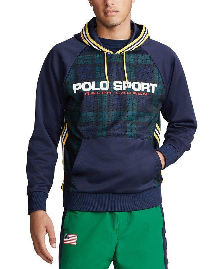 Polo Ralph Lauren DoubleKnit Hooded Logo Sweatshirt Navy