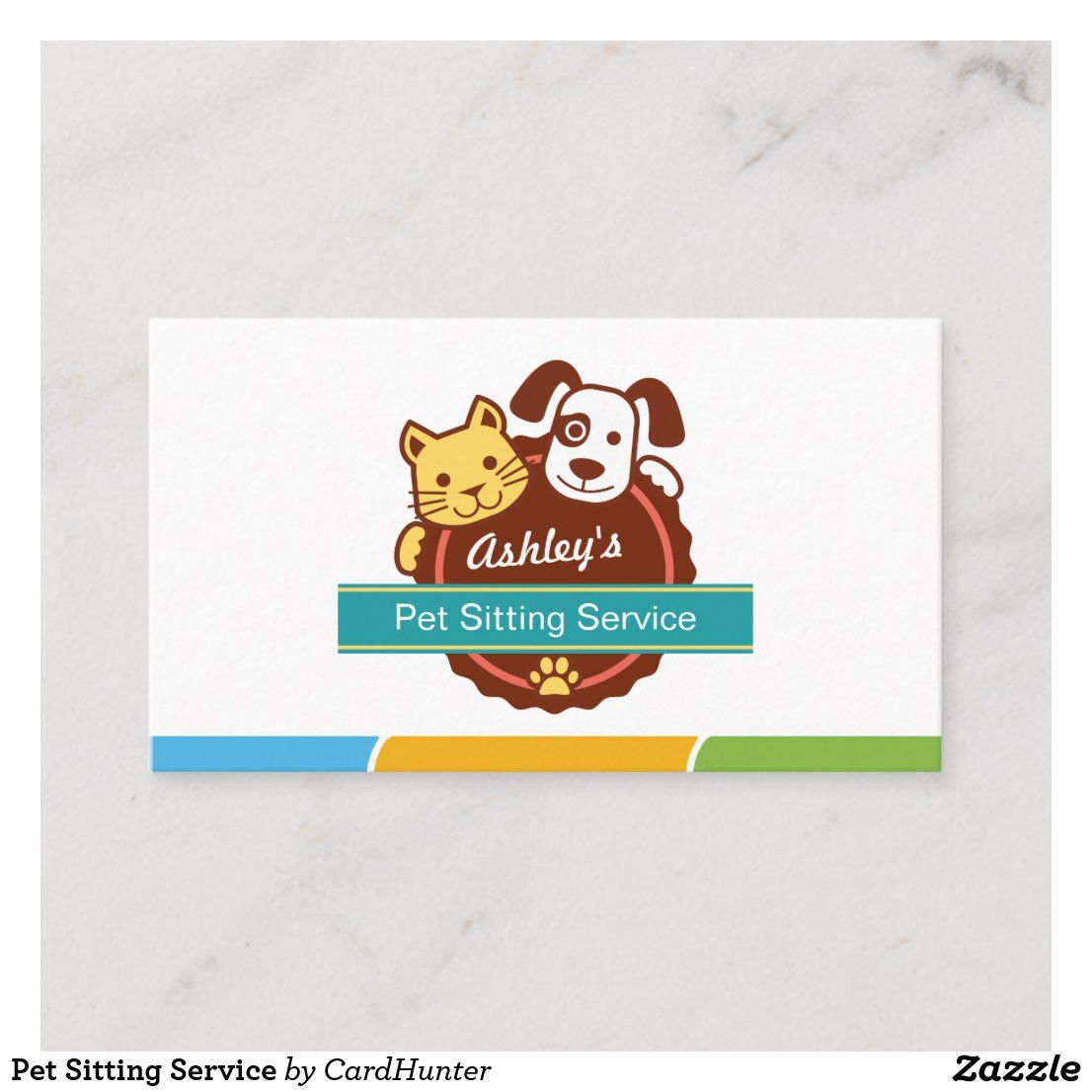 Pet Sitting Service Business Card in 2020