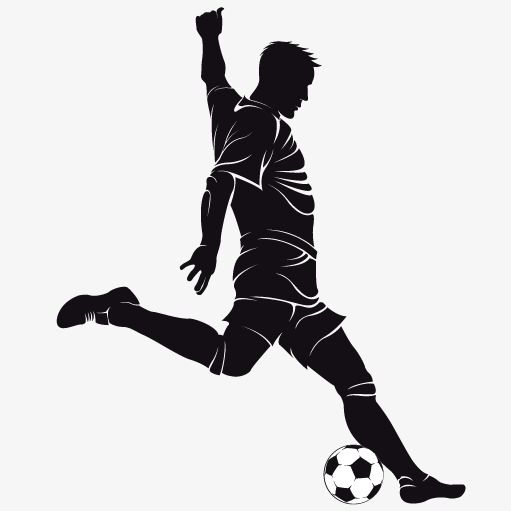 Man Playing Soccer Man Vector Soccer Vector Soccer Clipart Png And Vector With Transparent Background For Free Download Soccer Silhouette Soccer Players Football Logo Design
