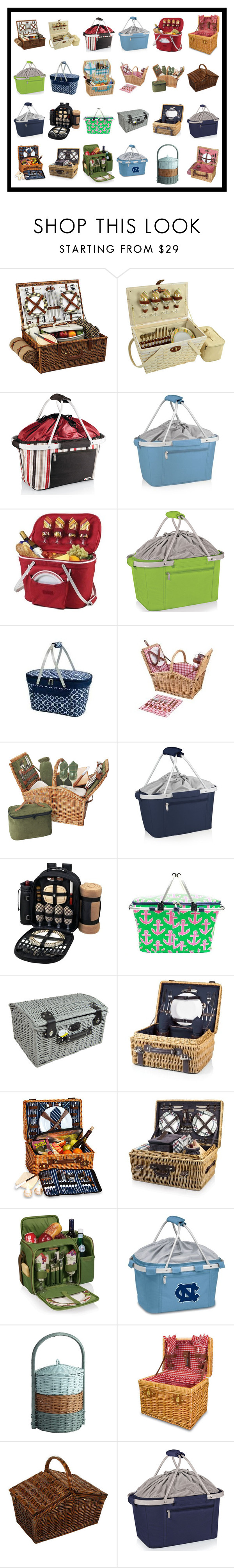 """Picnic Baskets #1"" by franceseattle ❤ liked on Polyvore featuring interior, interiors, interior design, home, home decor, interior decorating, Picnic at Ascot, Picnic Time, Wine Enthusiast and Pier 1 Imports"