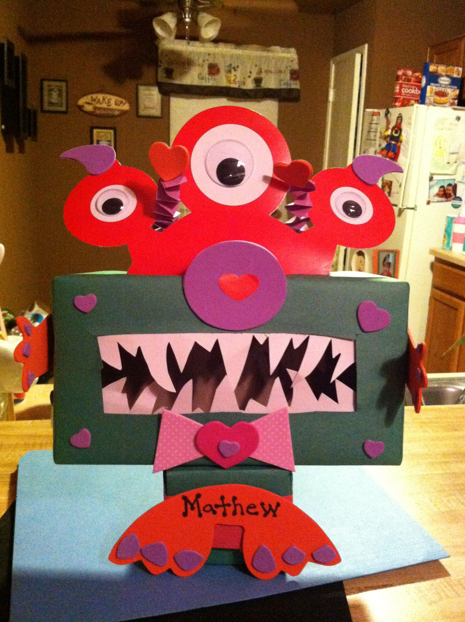 Monster Valentines Mailbox Super Cute And Easy To Make