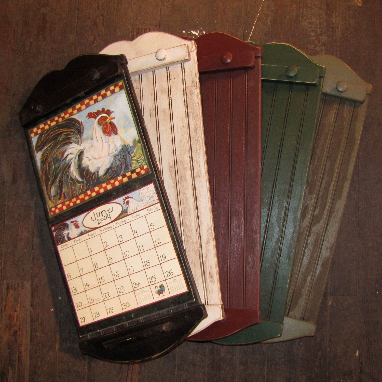 rustic style calendar holder color choice free shipping 3799 via etsy