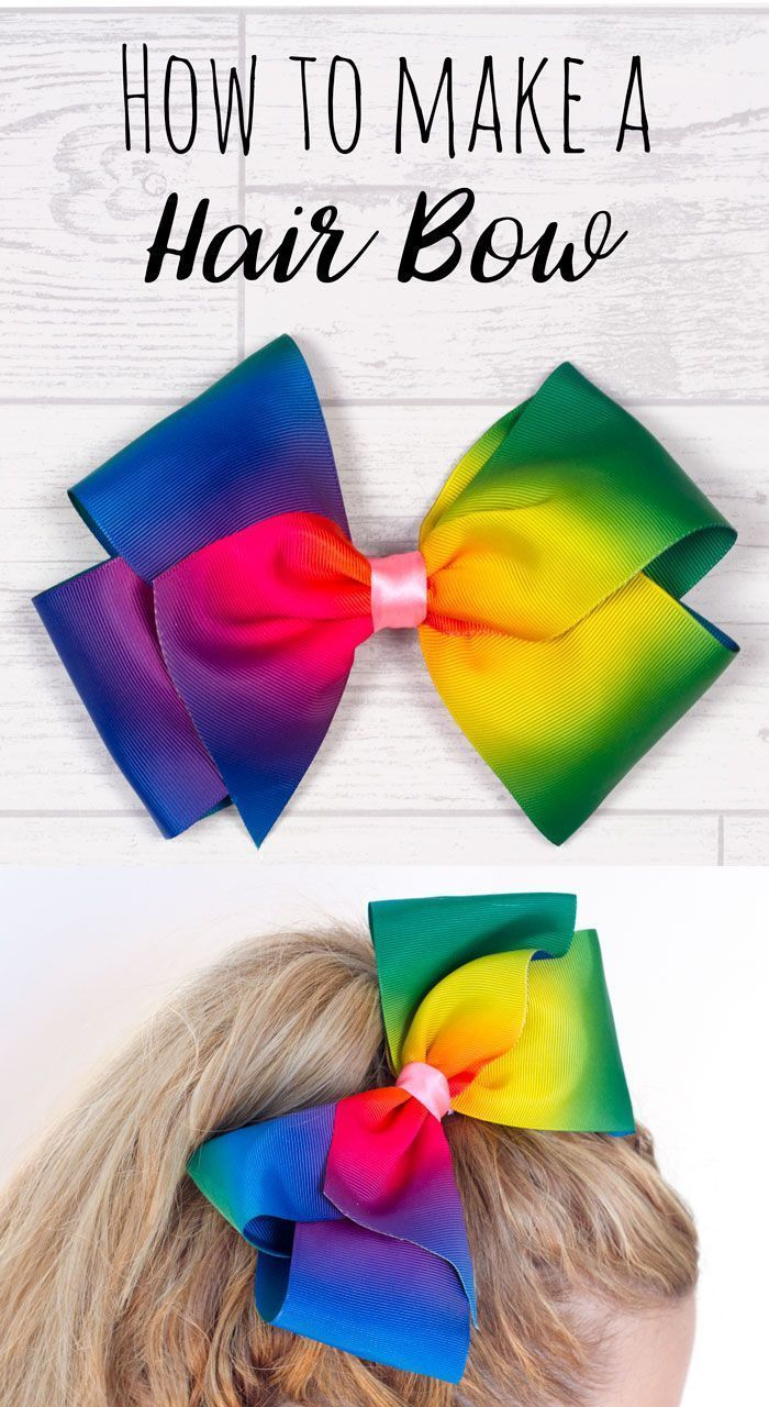DIY JoJo Style Boutique Hair Bow #hairbows