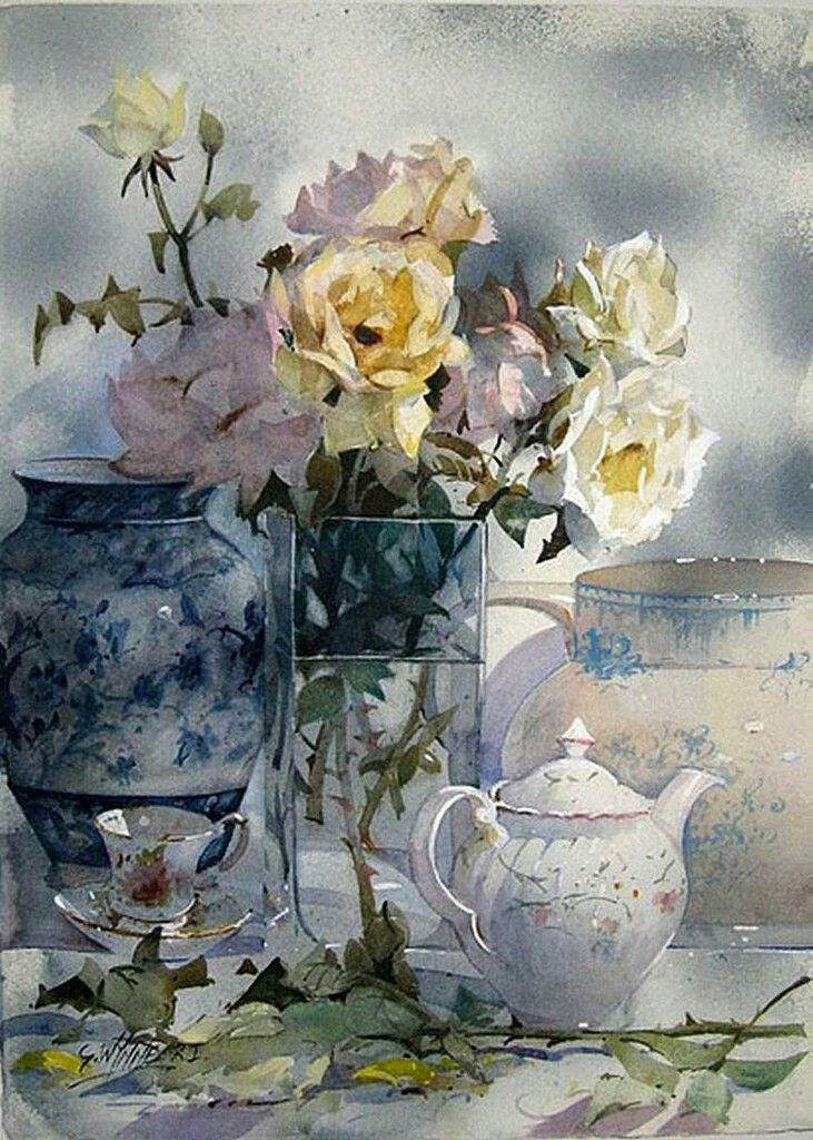 Watercolor Flowers By Irina Sart On Still Life Watercolor