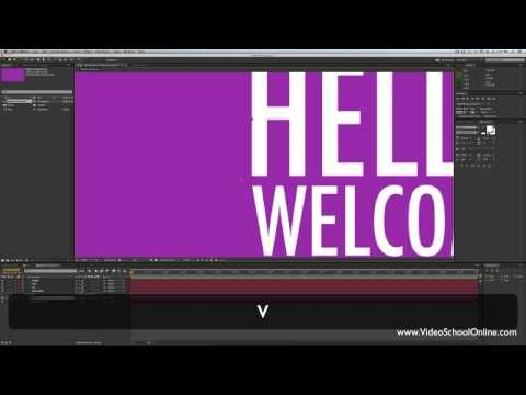 After Effects Tutorial - Basic Motion Graphics & Kinetic Typography