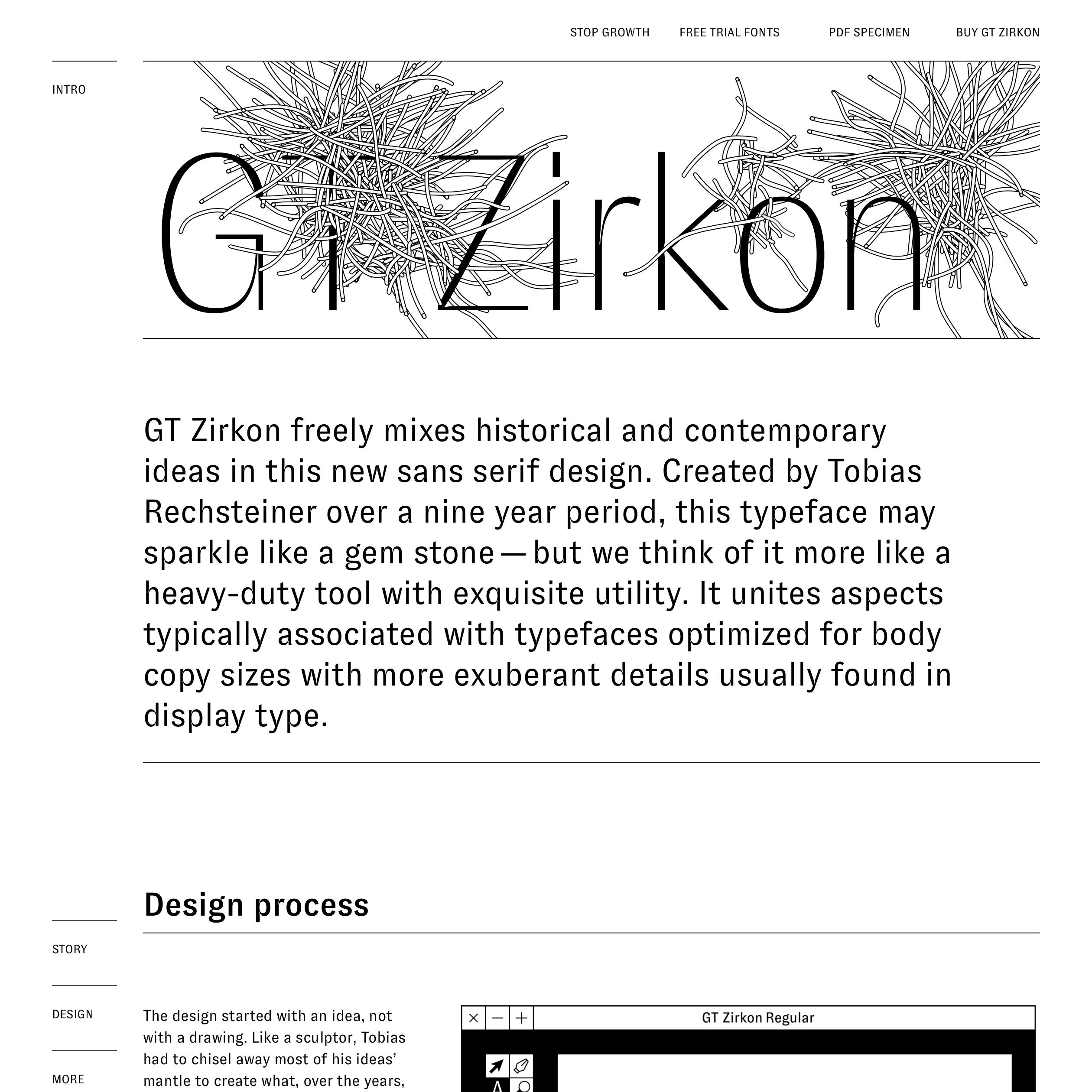 Fonts used gt zirkon · typewolf typography inspiration