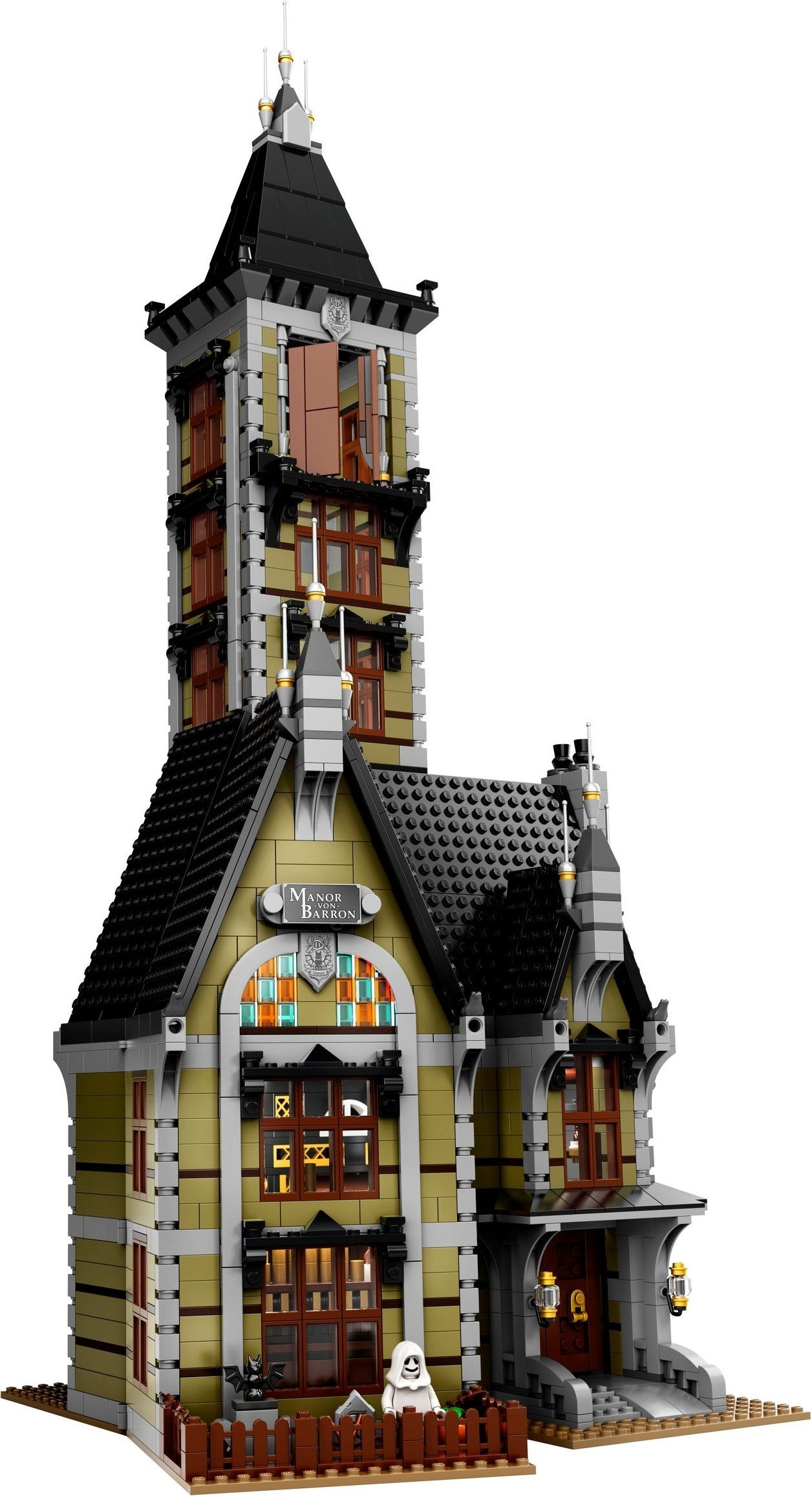 Lego 10273 Haunted House In 2020 Lego Haunted House Brick Loft Horror House