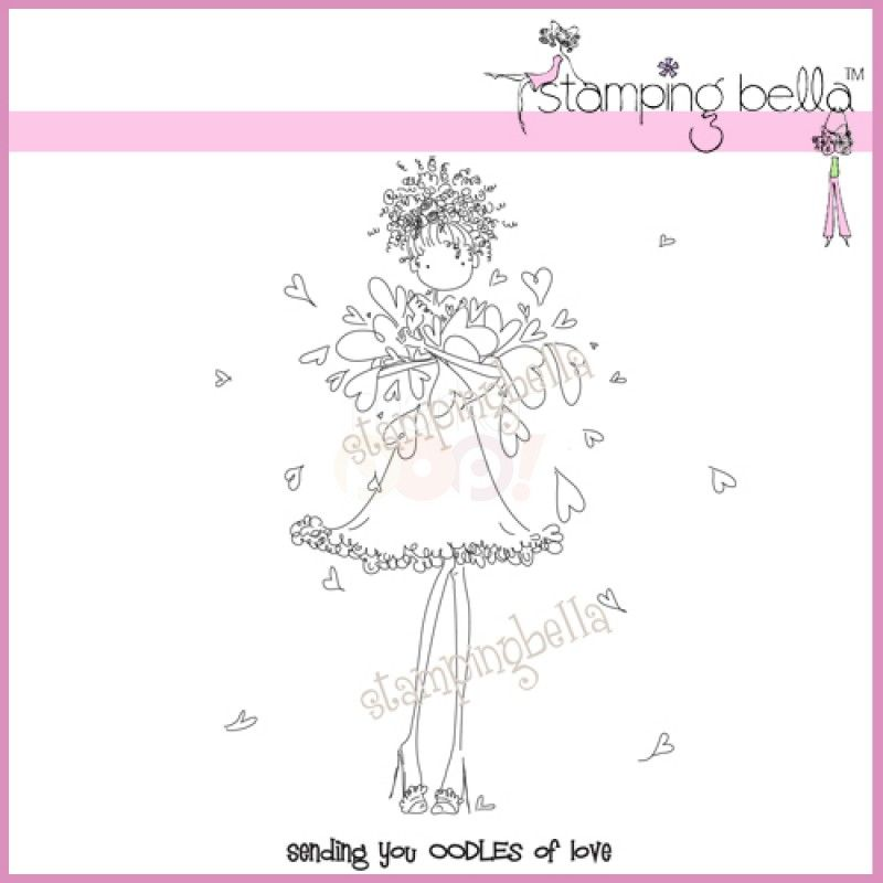 Stamping Bella EB267 Uptown Girl Jayden Love to Journal Cling Rubber Stamp 6.5 x 4.5