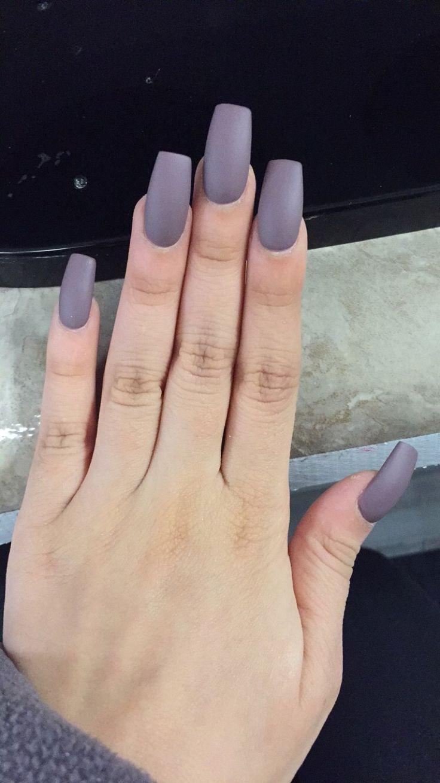 Long Square Matte Acrylic Nails
