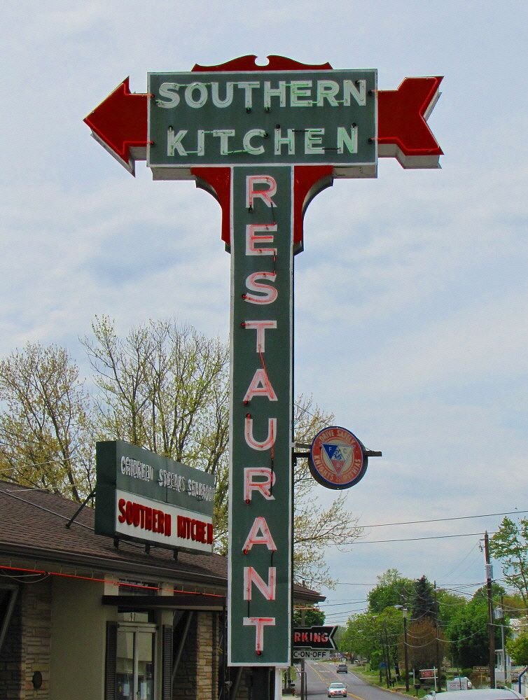 Southern Kitchen Restaurant Vintage Neon Signs Neon Signs Old