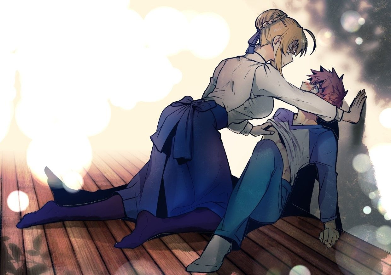 Emiya Shirou X Saber Fate Archer Fate Anime Series Shirou Emiya