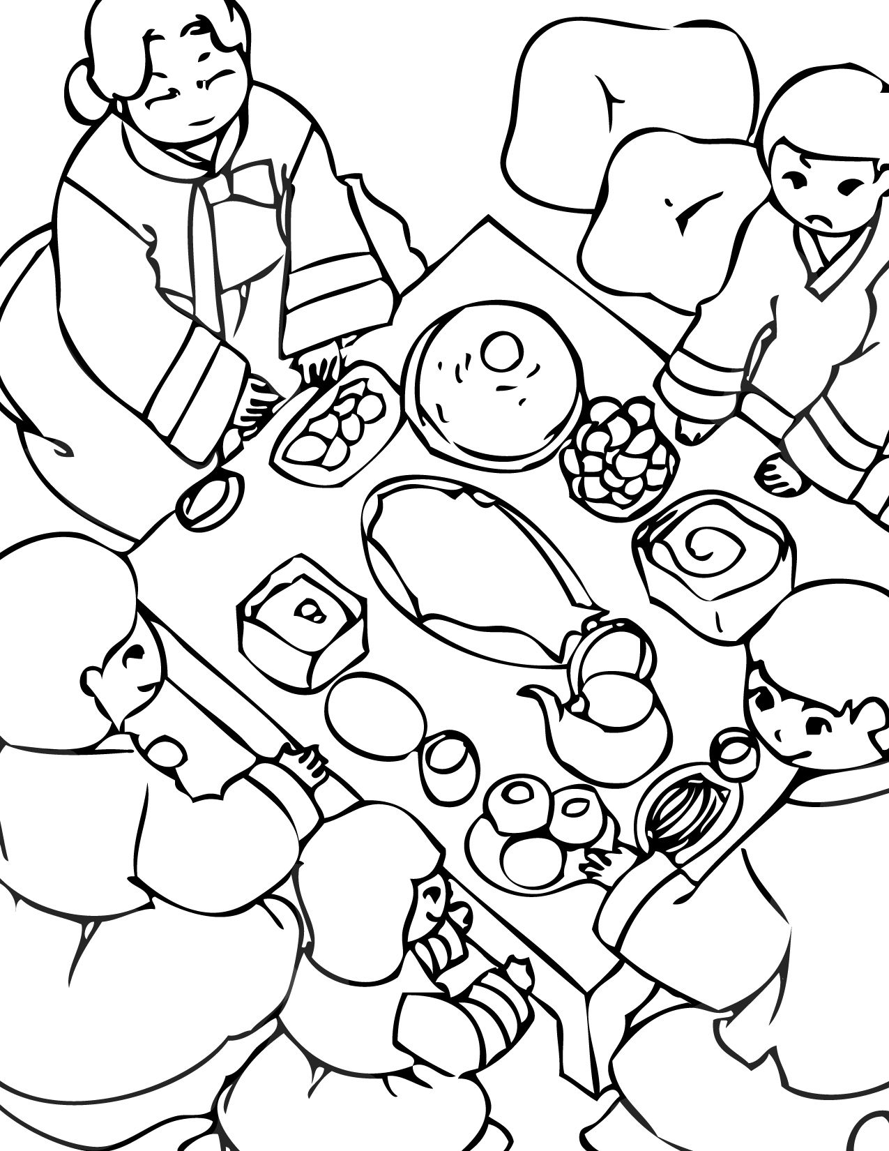 Good Korea Coloring Page | Print This Page | Korean Holidays Coloring Pages | Coloring  Pages