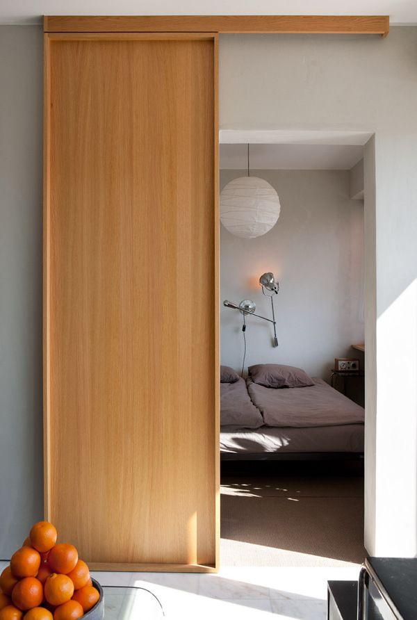 Home by aleksi hautamäki, via Behance \u2026 wooden sliding door