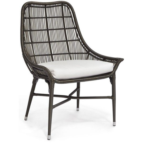 Palecek Lucca Espresso Outdoor Chair (3,740 AED) ❤ liked on Polyvore featuring home, outdoors, patio furniture, outdoor chairs, outside patio furniture, outdoor furniture, all weather outdoor chairs, outdoor patio chairs and outdoor garden furniture