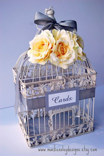 Pin By Patty Iglesias On Things I Love Card Box Wedding Bird Cage Decor Bird Cage