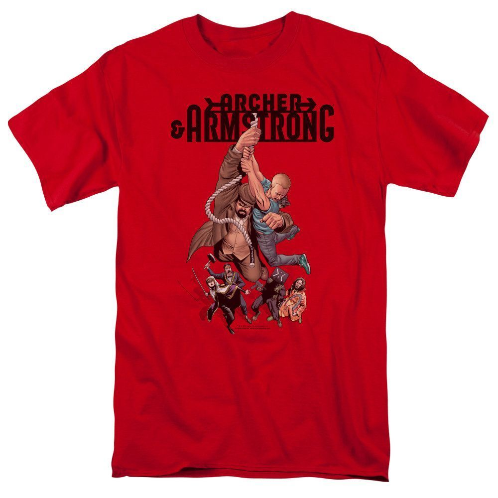 Archer & Armstrong Hang In on Red T-Shirt