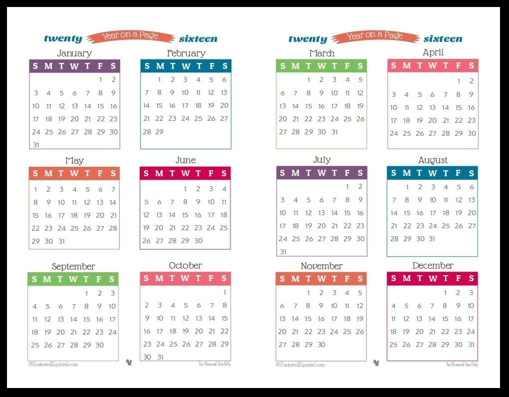 Year Long Calendar 2021 Year Long Calendar On One Page | Calendar printables, Printable